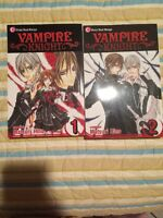 Vampire Knight Manga Volumes 1 And 2 (English, Shojo Beat)