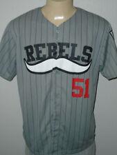 Las Vegas 51s UNLV Rebels Gray Minor League Promo Baseball Jersey Men XL