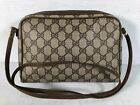 Entrupy Authenticated Gucci Italy Brown Signature Coated Canvas Crossbody Bag