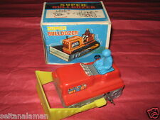 Unique Vintage Greek Wind Up Super Bulldozer Mib By Ap From 70s