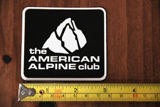 AMERICAN ALPINE CLUB Rock Climbing STICKER Decal NEW Black
