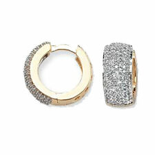 Huggie Yellow Gold Diamond Fine Earrings