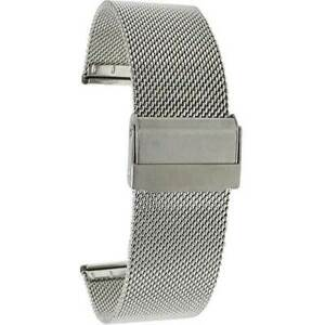 18mm and 20mm Quick Release Superfine Mesh Milanese Stainless Steel Watch Bands