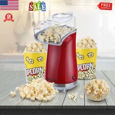 16 Cups Popcorn Maker Machine Hot Air Popper Popcorn Maker w/ Removable Lid Cup