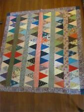 Vintage 58 x 62 Quilt Print Fabric Quilt Baby Blanket/Table Cover/Wall Hanging