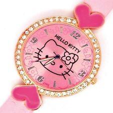 HELLO KITTY watch orologio da polso Donna Bambina ROSA con STRASS NUOVO