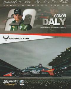 2020 Conor Daly U.S. Air Force USAF Chevy Dallara Indy Car postcard