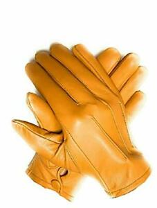 Men's Dress Driving Cycling Genuine Lambskin Leather Unlined Gloves