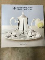 New International Silver Company Silverplated 4 Piece Coffee Set 4pcs Four