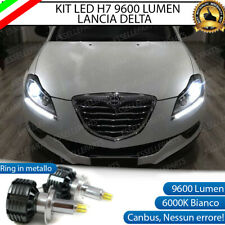 KIT FULL LED H7 CANBUS LANCIA DELTA 6000K BIANCO 9600 LUMEN 80W NO ERROR