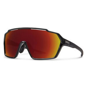 Smith Shift MAG Black Sunglasses w/ CP Red Mirror + Clear Lens