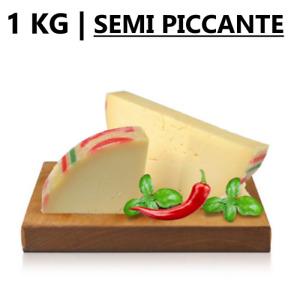 1 KG | Formaggio PROVOLONE SEMI PICCANTE - Trancio Sottovuoto da 1 Kg
