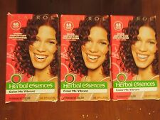 3 BOXES OF Clairol Herbal Essences Color Me Vibrant #48  Radiant burgundy