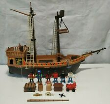 Playmobil 3750 vintage pirate ship / barco pirata (incomplete + extras)