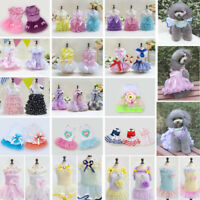 Puppy Pet Dog Dress Lace Skirt Cat Princess Dress Small Dog Clothes Clothing New
