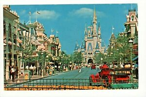 Postcard Disney World Bound For The World of Fantasy Main Street USA. Q