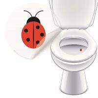 4 x Aufkleber MARIENKÄFER Toilette Toilettensticker Tattoo Pissior Klo Sticker