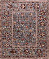 Geometric Super Kazak Hand-Made Wool Area Rug Dining Room Oriental Carpet 8'x10'