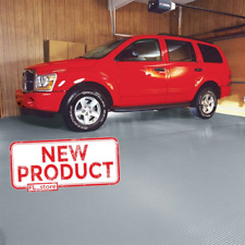 Garage Floor Cover Universal 7.5 x 17 Ft Polyvinyl Ribbed Floor Protector Gray