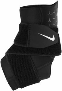 Nike Sports Support - Pro Ankle Sleeve With Strap - Black