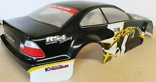 1/10 RC car 200mm on road drift Sports Body Shell w/spoiler Black