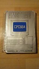 amstrad CPC664 manuel de l ' utilisateur 1985 original console ordinateur