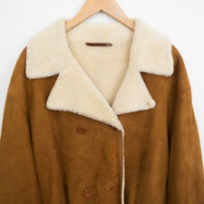 Tommy Hilfiger Mens 100% Lamb Shearling Leather Coat Classic Luxury Rare Sz XL
