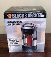 Black And Decker Professional Jar Opener New Open Box JW200BM