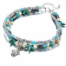 Women's Fashion Jewelry 925 Silver Plated Starfish Turtle Anklet Ankle Bracelet