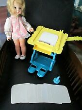 Vintage Drawing Doll Sketchy With Table Desk 12 Templates Stencils Draws Mattel