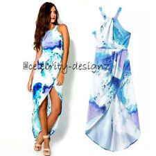 Regular Size Geometric Polyester Maxi Dresses for Women