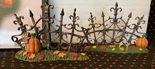 Dept 56 810642. Halloween Gothic Gate Fence Sections. Retired 2012.