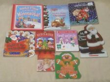 Lot of 9 CHRISTMAS WINTER Children's BOARD BOOKS Eric Carle DISNEY Santa Claus +