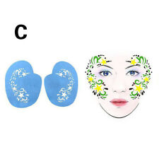 1* Set Reusable Body Art Stencil Template Light Blue Festival Face Painting New