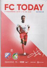 Programme / Programma FC Utrecht v Fortuna Sittard 03-11-2019