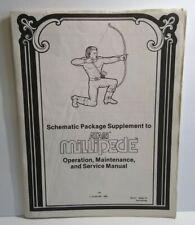 Millipede Arcade Schematic Package Manual Atari Original 1982 + Supplement
