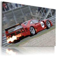 FERRARI F40 RED  Cars Large Wall Canvas ART  AU417  MATAGA  NO FRAME-ROLLED