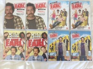 MY NAME IS EARL COMPLETE SEASONS 1 - 4 As New/VGC 16xDVD Region 2 Free Post