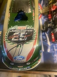 SIGNED 2010 John Force Castrol 25th Anniversary Chrome Mustang 1:24 RARE