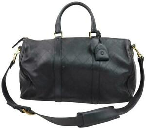 Chanel Quilted Lambskin Boston Duffle with Strap 859506