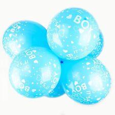 """Confezione da 10 - 12"""" Palloncini in Lattice è un ragazzo SKY BLUE-Bear Baby Shower Palloncini"""