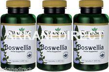 BOSWELLIA SERRATA - 400mg - 300 Capsules - Boswellia Serrata 1st CLASS UK P&P