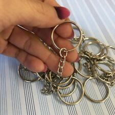 20x Schlüsselringe Kette Ringe Schlüsselanhänger mit Verbindungskette Binderinge