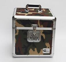 "Zilla LP100 12"" Vinyl Record LP Storage Box Flight Carry Case Army Green Camo"