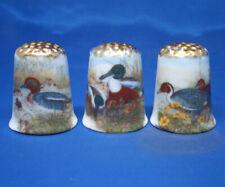 Birchcroft Thimbles -- Set of Three  -- Gold Top Ducks