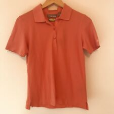 Greg Norman Womens Size XS Golf Shirt Polo Top Play Dry Moisture Wick Orange 184