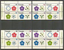 Canada #508-511 (511a), 1970 25c EXPO '70 - Osaka Japan, 4-Corner PB4 Set NH