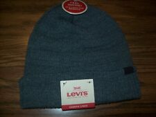 Youth Boys Levi'S Knit Winter Hat - New Nwt - Sherpa Lined - Gray - Msrp $26