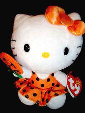 Ty Sanrio Beanie Babies Hello Kitty Halloween Orange/Black Pumpkin Lollipop