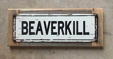 Beaverkill River Orvis Reel Fly Fishing Trout Fish Vintage Steel Sign Home Decor